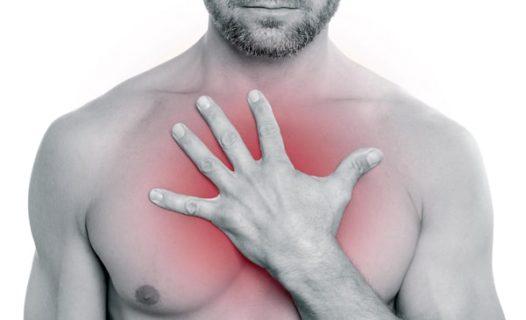 Боль при нажатии на сосок у мужчины