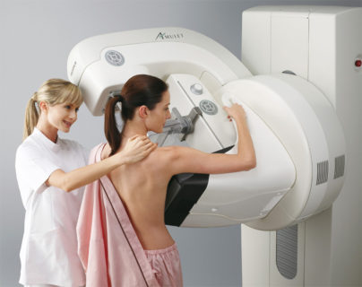 Процесс маммографии