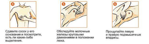 самостоятельный осмотр молочных желез